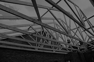 pine roof trusses